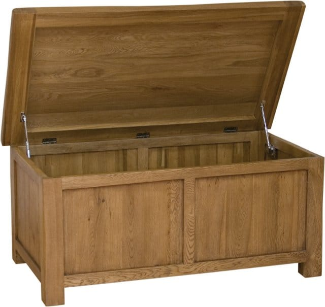 Rustic 100% Solid Oak Blanket Box - rustbb