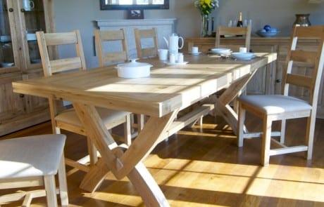 modern oak dining