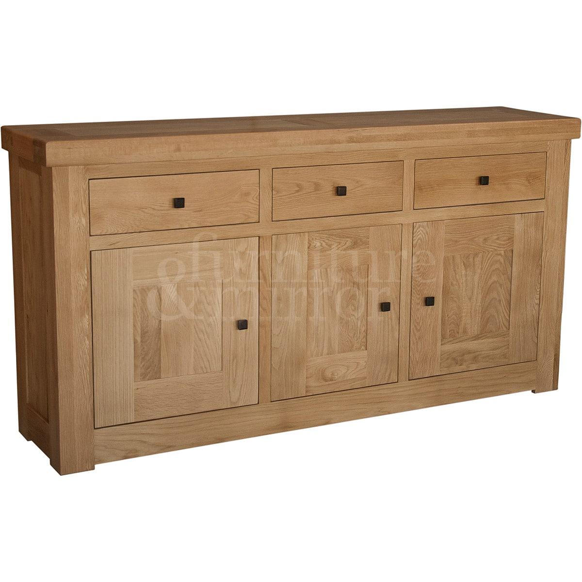 Chunky Three Drawer Three Door Solid Oak Sideboard