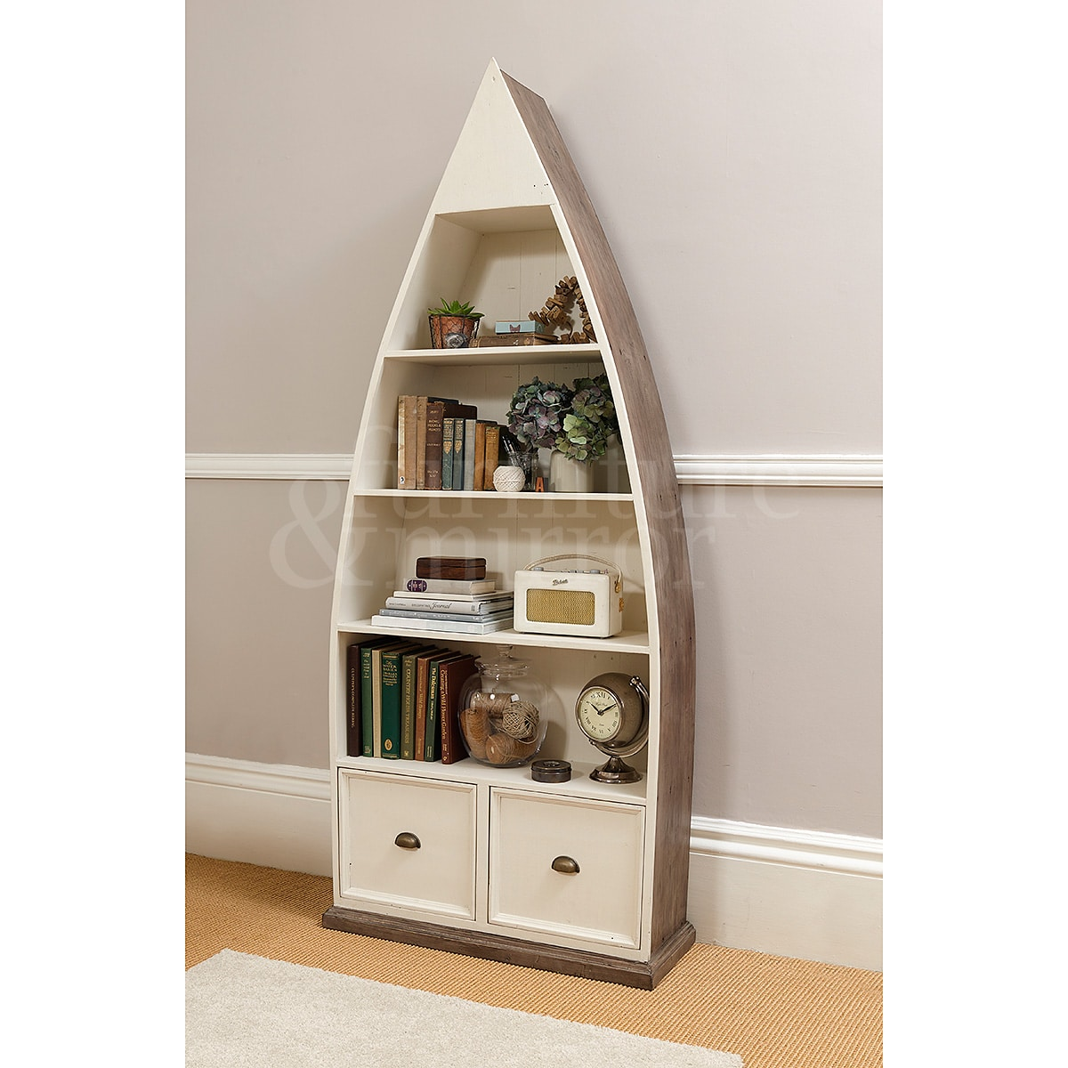 Home cotswold driftwood cotswold driftwood boat bookcase