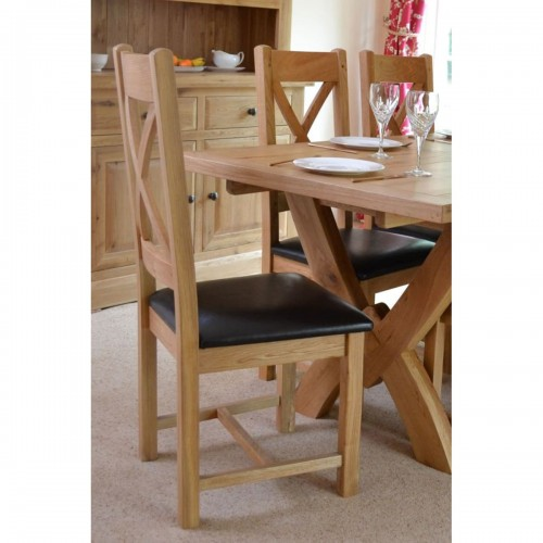 Fresno Oak Cross Dining Chair - FR022