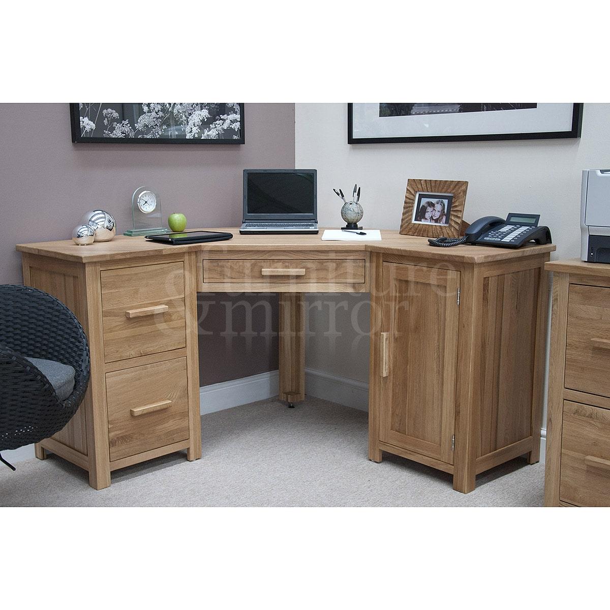 Oregon corner computer desk furniture and mirror for Furniture and mirror