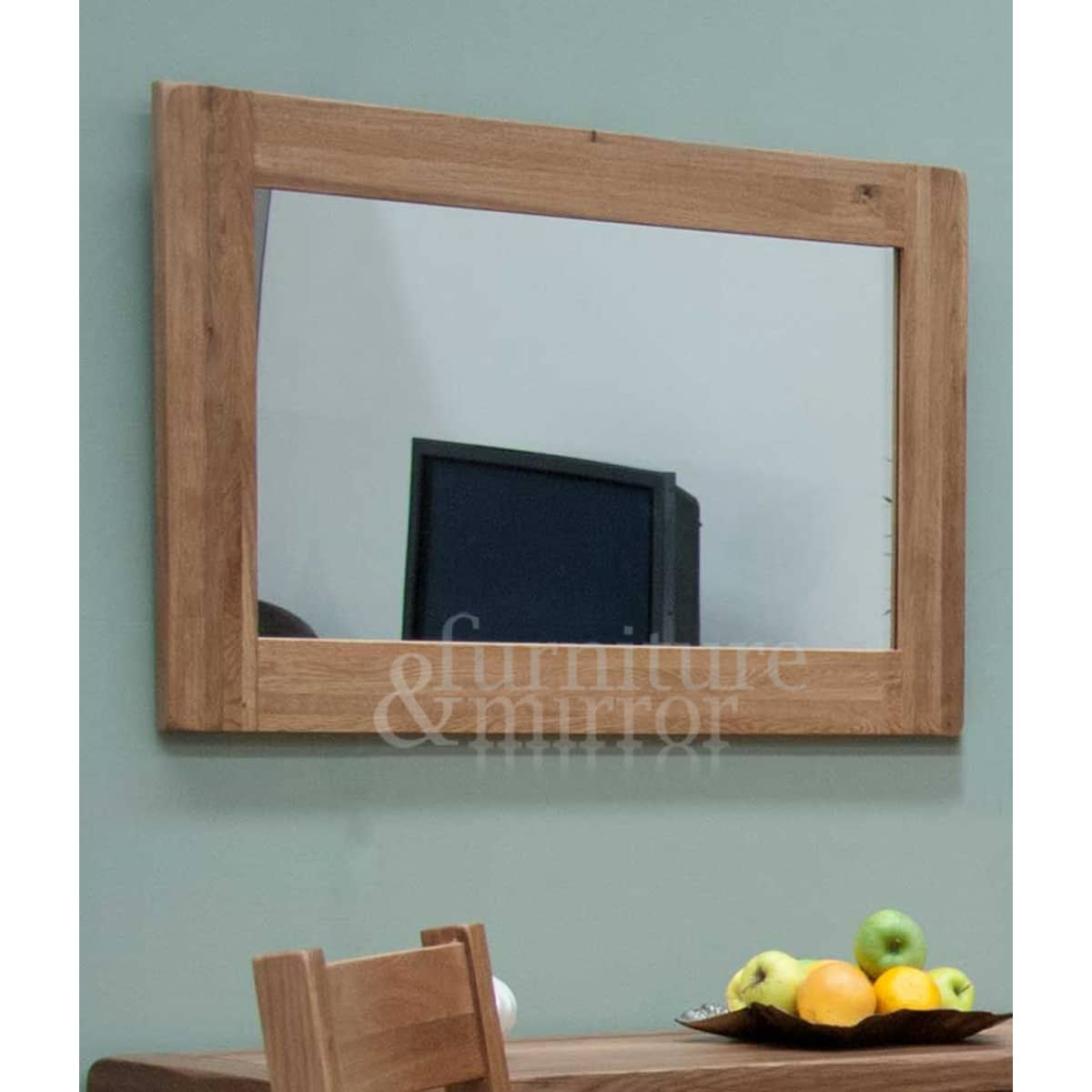 Rustic oak medium 90x60 wall mirror furniture and mirror for Miroir 90x60