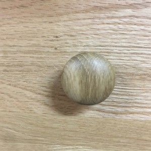 Small Button Oak Handle