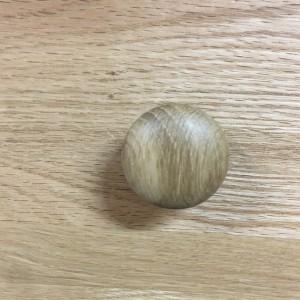 Small Button Oak Handle