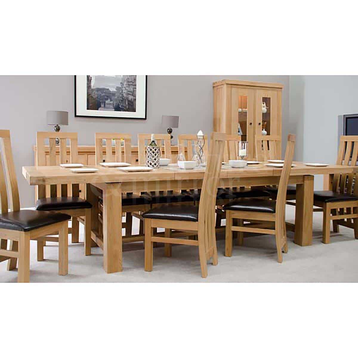 Chunky 14 seater dining table furniture and mirror for 14 seater dining table