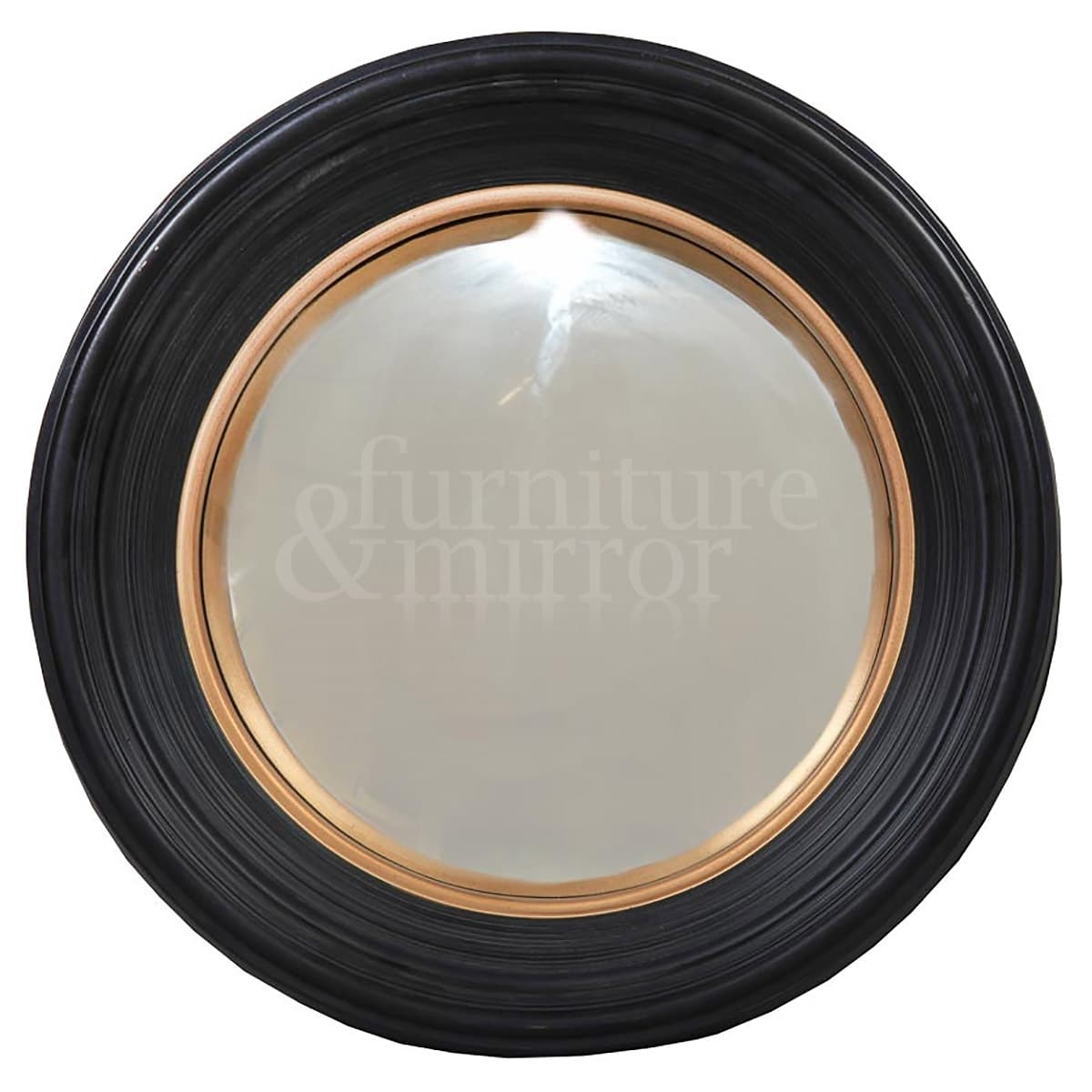 small black deep framed convex mirror furniture and mirror