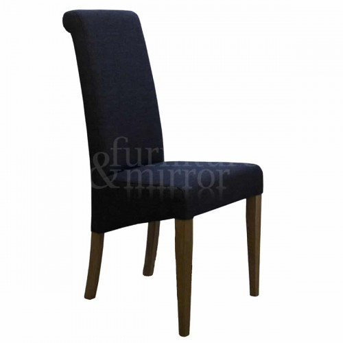 Napoli Charcoal Fabric Dining Chair - NAPCHAR602
