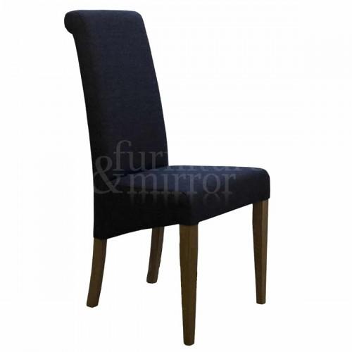 Napoli Charcoal FabricDining Chair - NAPCHAR602