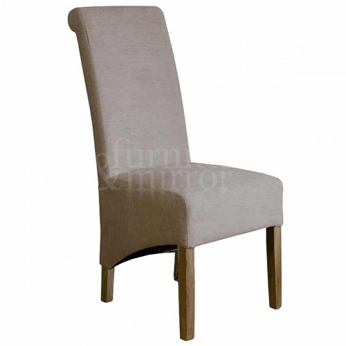 Rollback Beige Chenille Dining Chair- ROLLBEIGEC