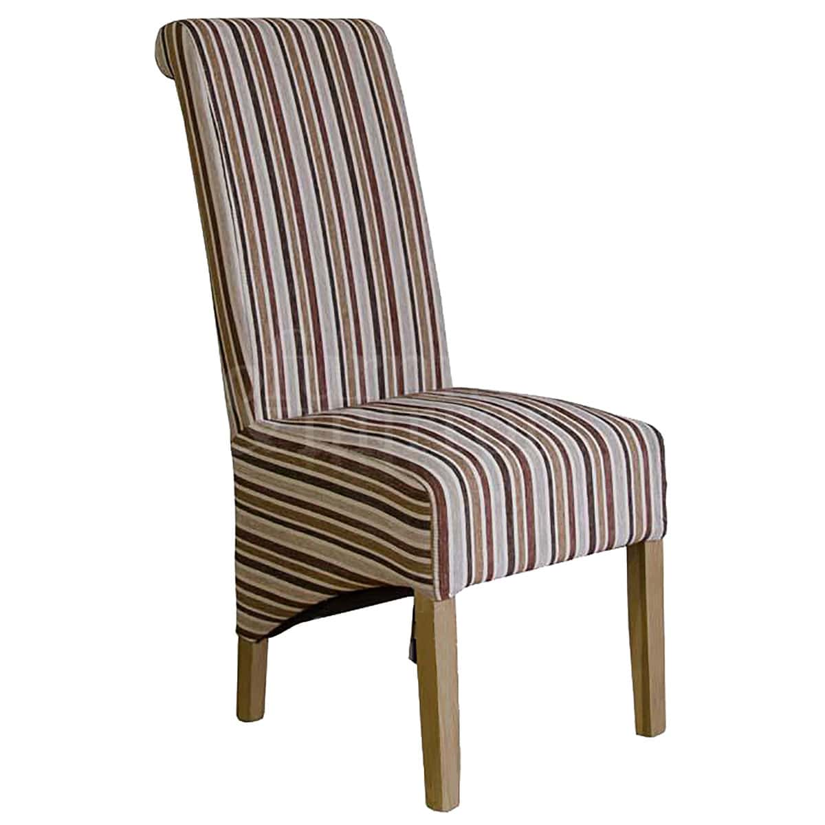 Striped Dining Room Chairs: Rollback Royal Striped Fabric Dining Chair