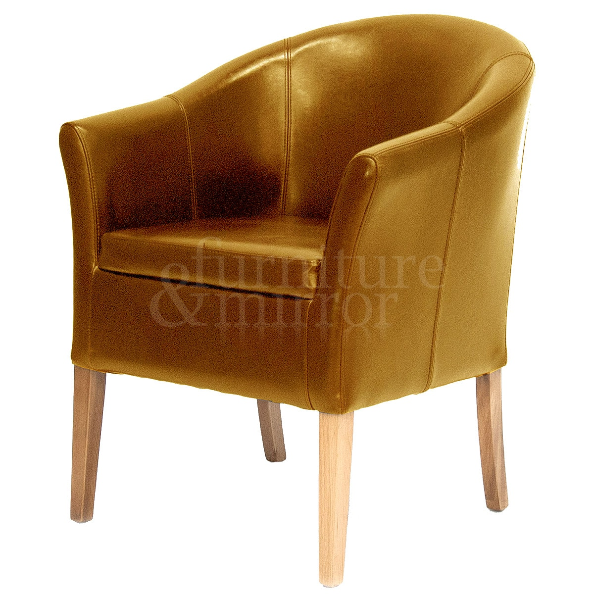 Tan Leather Tub Chair
