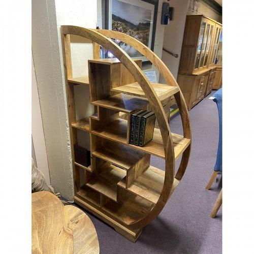 Pennines/Havana Semi Circular Display Cabinet - PEN601
