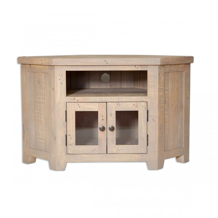 The Witterings Glazed Corner Tv Unit - WIT2727a