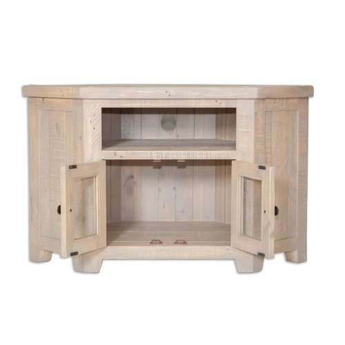 The Witterings Glazed Corner Tv Unit - WIT2727b