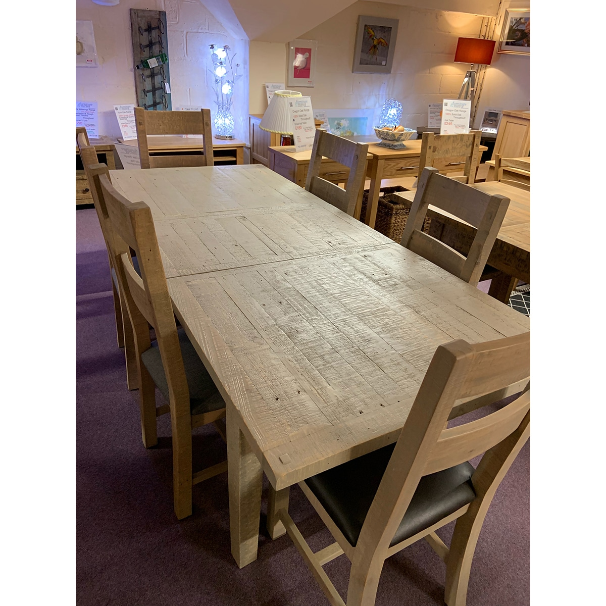 The Witterings LargeExtending Table + 6 Chairs- WIT2715