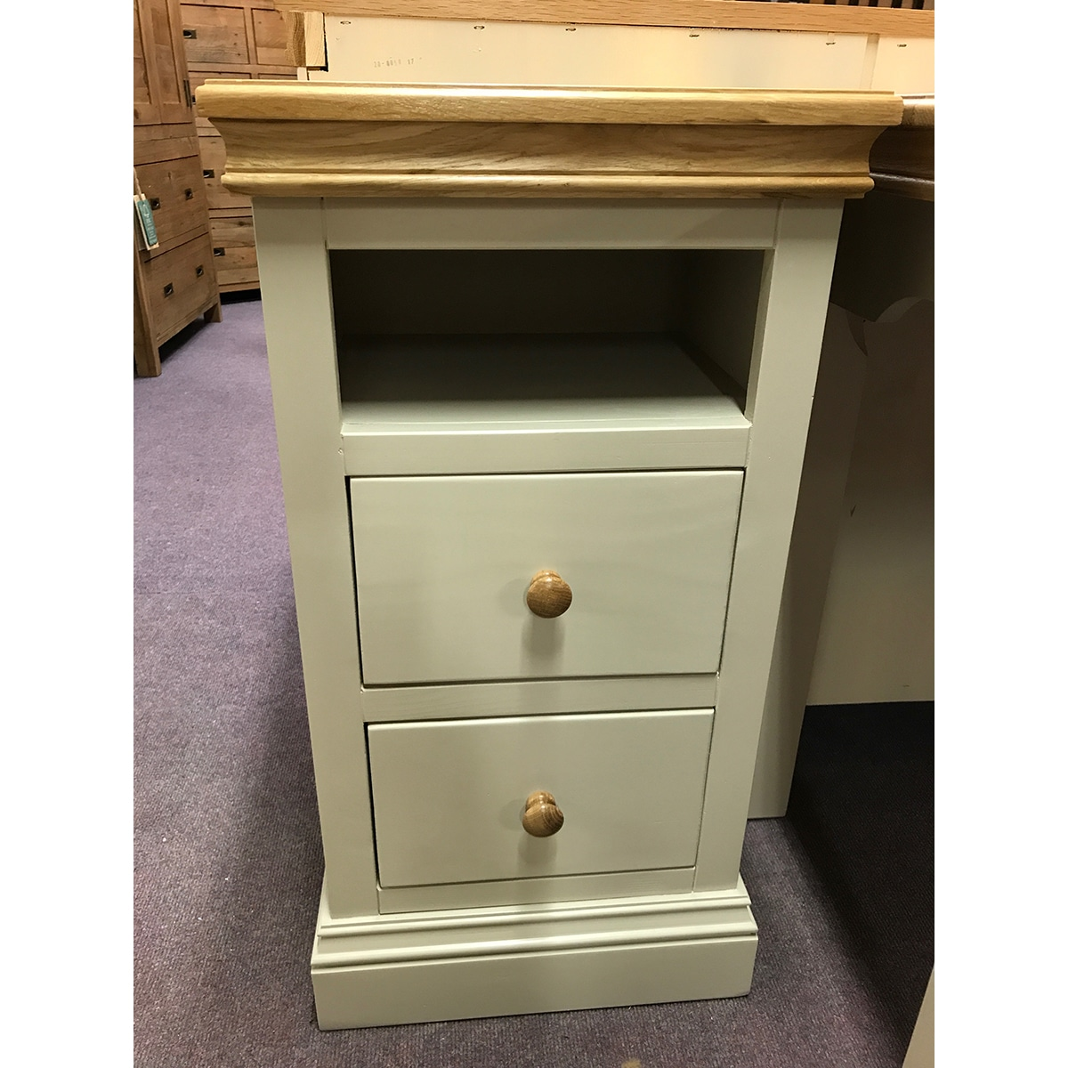 New England 2 Drawer Bedside - NE2BS