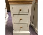 New England 3 Drawer Bedside - NE3BS