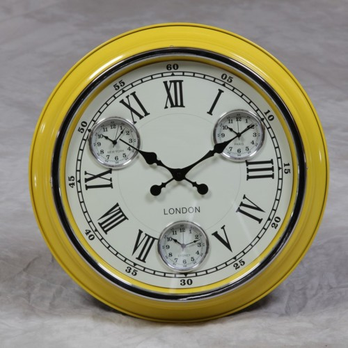 Retro Yellow Clock - ET234