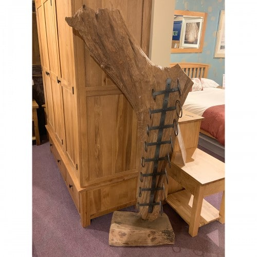 Genuine Reclaimed Wood Forest Sculpture Wine Rack- WINRCK