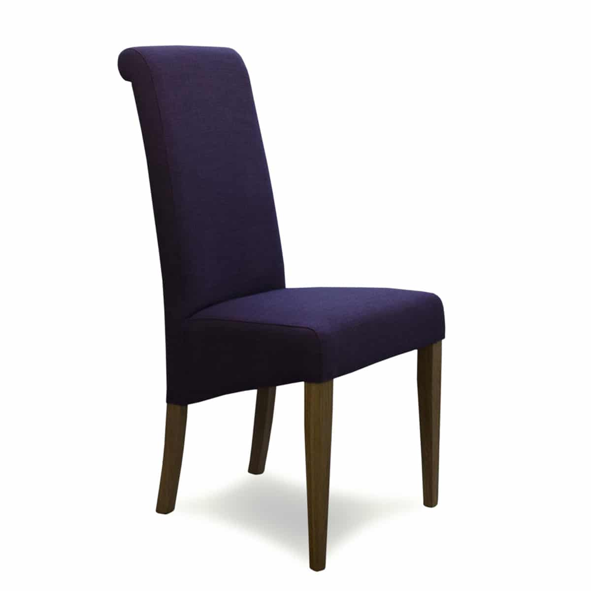 napoli purple fabric dining chair furniture and mirror. Black Bedroom Furniture Sets. Home Design Ideas