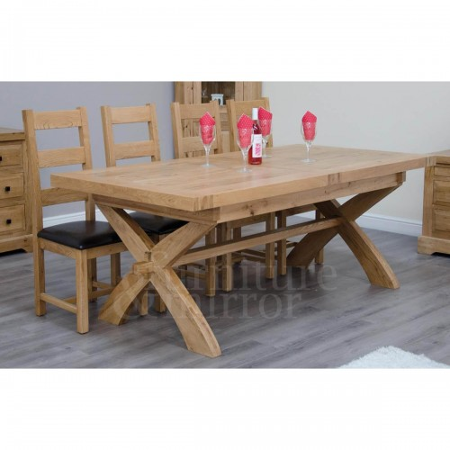 Solid Oak and Reclaimed Furniture in Chichester amp Rustington : Wessex XLeg Extending Table WEXXLEG1 500x500 from furnitureandmirror.com size 500 x 500 jpeg 25kB