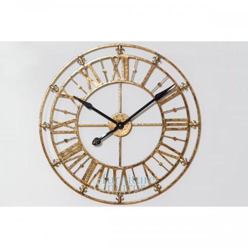 Skeleton Golden Iron Wall Clock - ET22