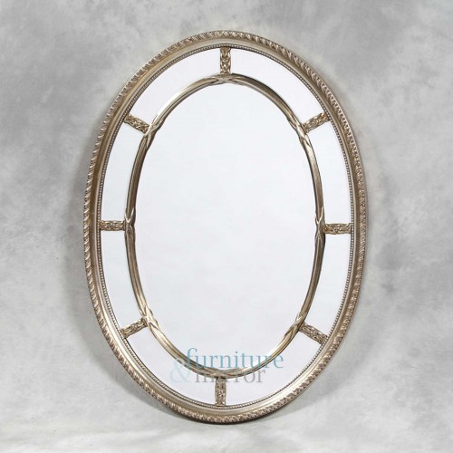 Silver Oval Multi Mirror - M38