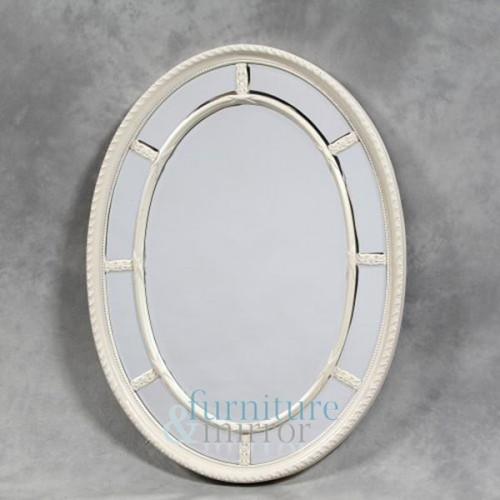 Cream/Antique Oval Multi Mirror - M39