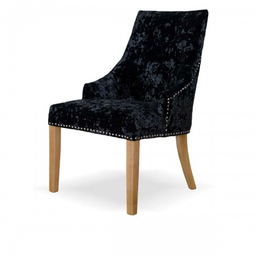 Willow Crushed Black Dining Chair- WILLOWCRBLK