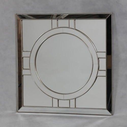 Deco Antique Silver Venetian Mirror- V304S