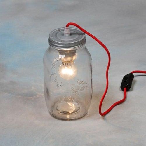 Vintage Silver Jam Jar Lamp- CH218