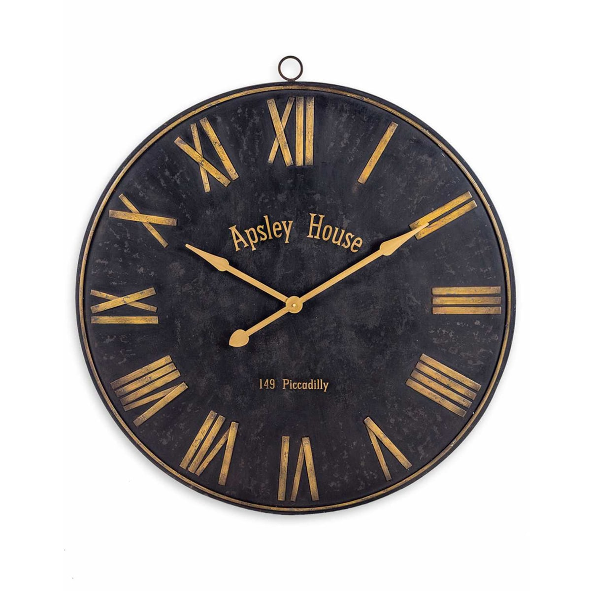 black gold iron wall clock furniture and mirror. Black Bedroom Furniture Sets. Home Design Ideas