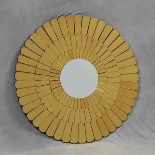 Gold Venetian Daisy Mirror- V339