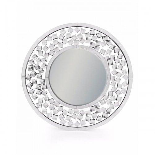 Circular Diamond Venetian Wall Mirror- V386
