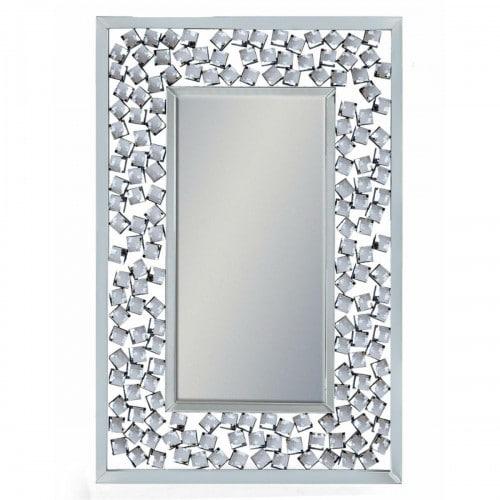 Rectangular Diamond Venetian Wall Mirror- V387