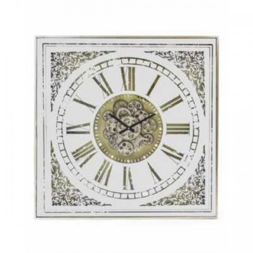 Antiqued Mirrored Face Moving Gears Clock- ET314