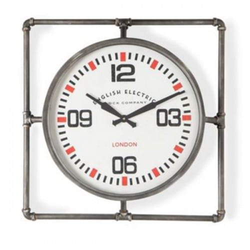 Square Pipe Framed Industrial Wall Clock- JRG10