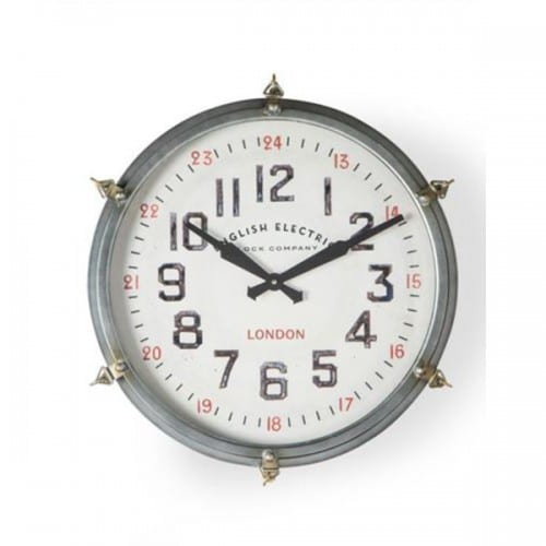 Round Industrial Station Style Wall Clock- JRG9