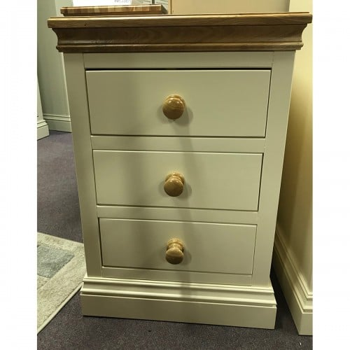 New England Jumbo 3 Drawer Bedside - NEJ3BS