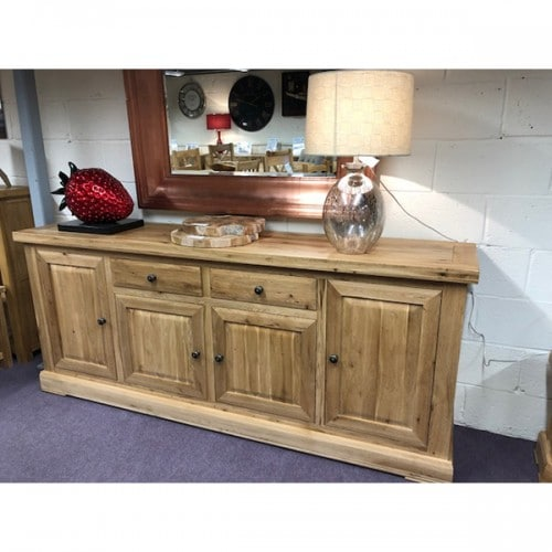 Fresno Solid Oak Four Door Sideboard - FR060