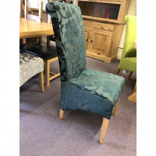 Baroque Charcoal Fabric Dining Chair - BARCHAR