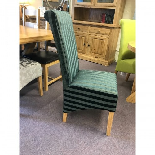 Charcoal Fabric Stripe Dining Chair - CHARSTRI