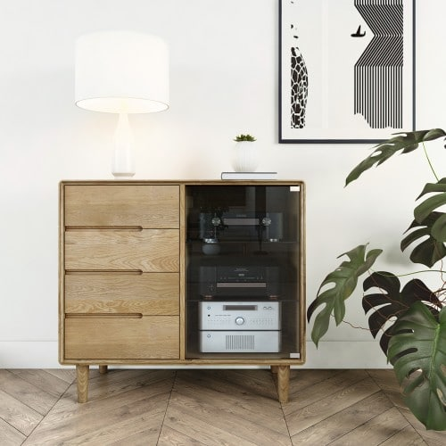 Nordic Small Glazed Chest- NORSMCH