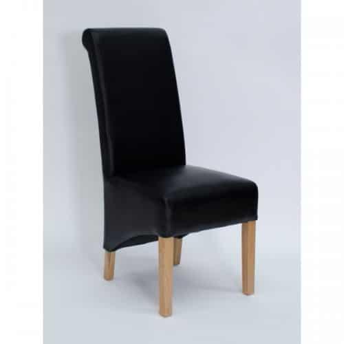 Piper Noir Rollback Dining Chair - PIPNOIRROL