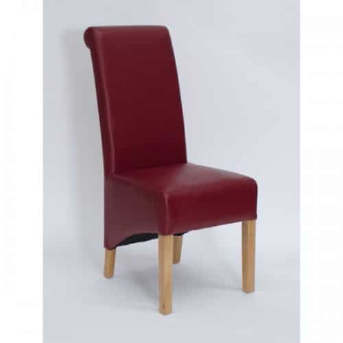Piper Ruby Red Rollback Dining Chair- PIPRUBYROL