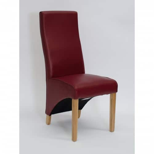 Piper Ruby Red Curved Dining Chair- PIPRUBYCUR