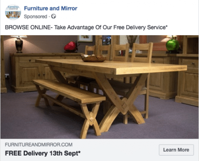 Facebook Advert 26