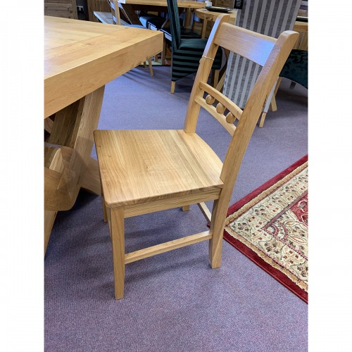 Ball Back Oak Dining Chair - BALLBCK