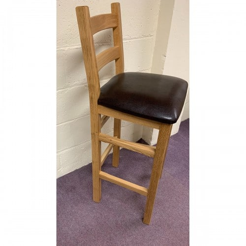 Crofter Solid Oak Bar Stool-CROFTER